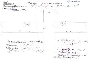 Схема расположения автотранспорта